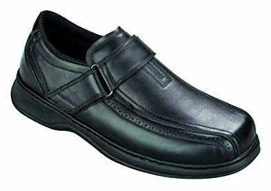 de6395f90ef Orthofeet Lincoln Center Comfort Wide Orthotic Diabetic Orthopedic Mens  Loafers Black Leather 7 M US