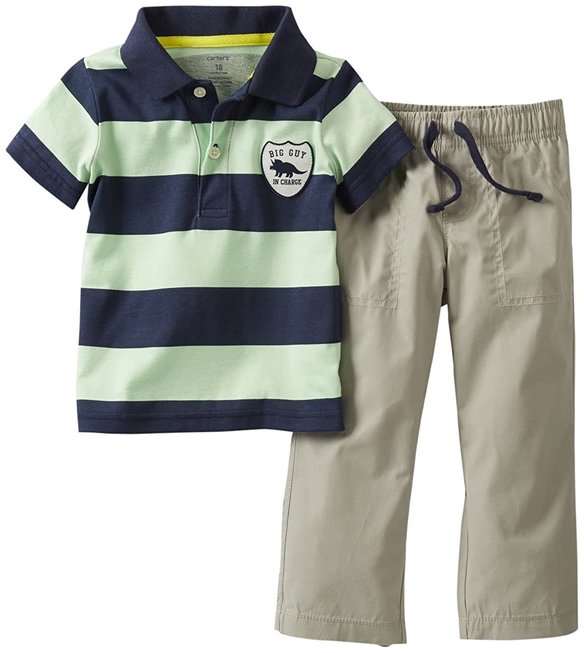 Carters 2-piece LITTLE PILOT IN TRAINING Polo Shirt /& Pants Set