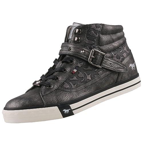 Mustang - Zapatillas Altas de Sintético Mujer, Color Gris, Talla 38 EU: Amazon.es: Zapatos y complementos