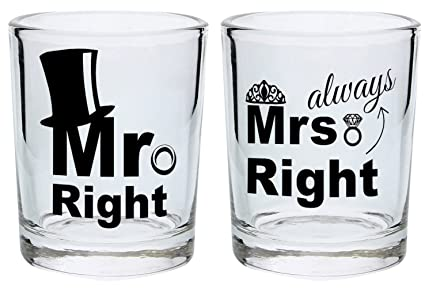 878b6fd440 Image Unavailable. Image not available for. Color  Wedding Gift Shot Glasses  ...