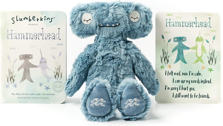 Slumberkins Hammerhead Kin /& Book Social Emotional Tools for Ages 0 Teaches Emotional Regulation