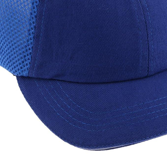 FLAMEER Trabajador Soldador Sombrero Cascos Sombrero De Béisbol Gorro De Tela Protección De La Cabeza - Azul: Amazon.es: Bricolaje y herramientas