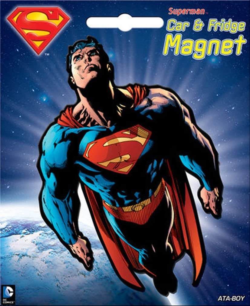 Ata-Boy DC Comics Die-Cut Superman Character Magnet for Cars, Refrigerators and Lockers
