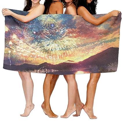 Fuegos artificiales Unisex playa toallas de baño toallas toallitas para Teen Girls adultos toalla de viaje