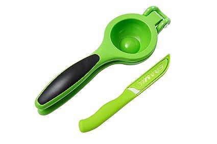 HomePOP exprimidor de limas y limones de grado comercial con cuchillo cerámico verde a juego