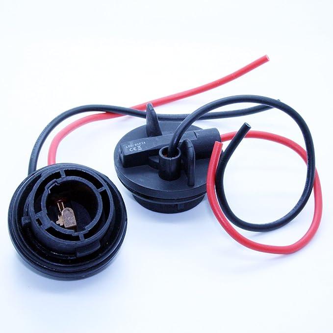 LED-Mafia 2X HB3 9005 LAMPENFASSUNG Halogen Lampen Fassung Keramik Stecker Kabel Sockel 12V