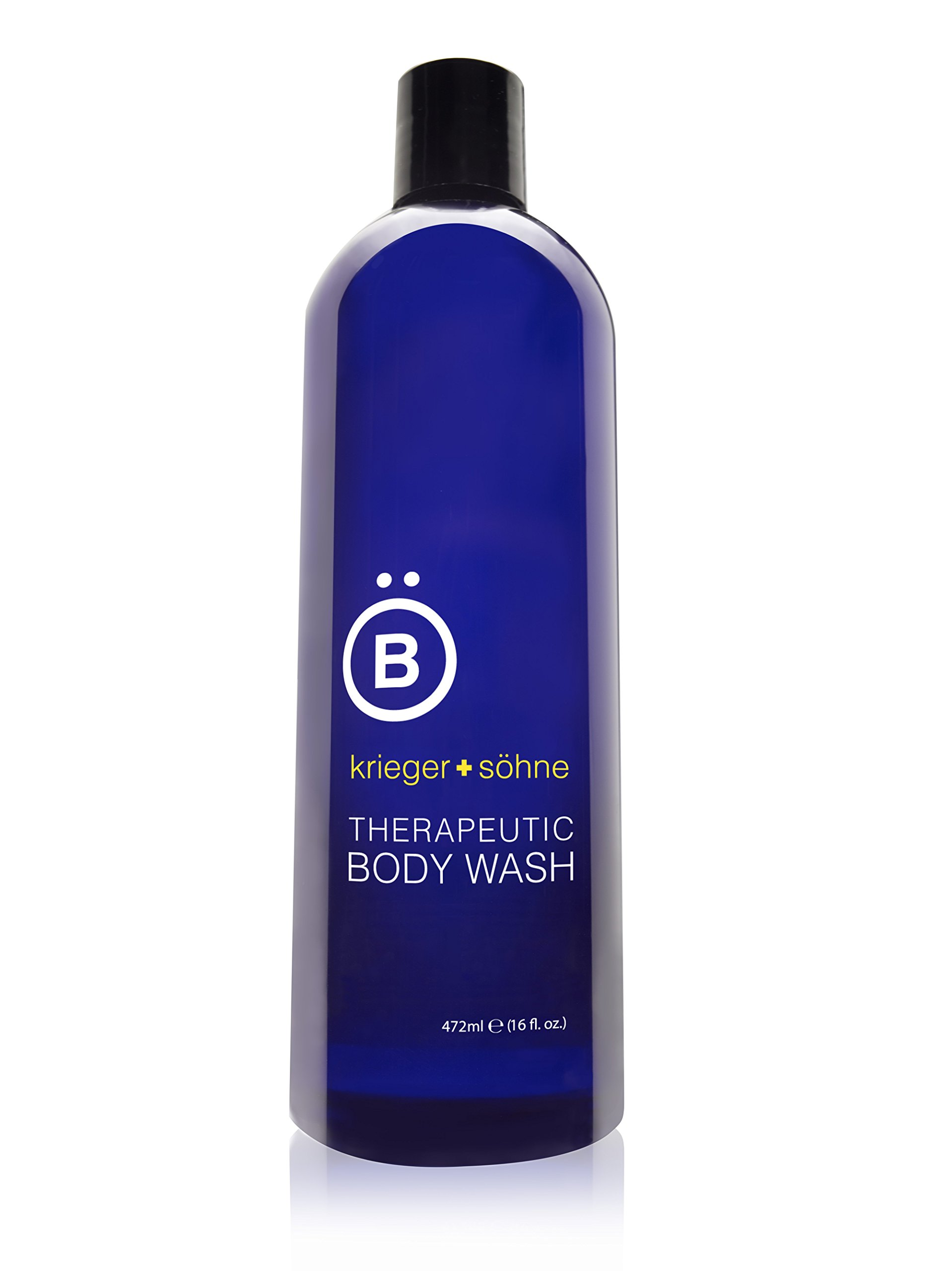 k + s Moisturizing Body Wash for Men with Argan, Coconut, and Orange Oils for Deodorizing Protection - Antibacterial & Antifungal All Natural for Sensitive Skin, Acne - Sulfate & Paraben free (16oz)