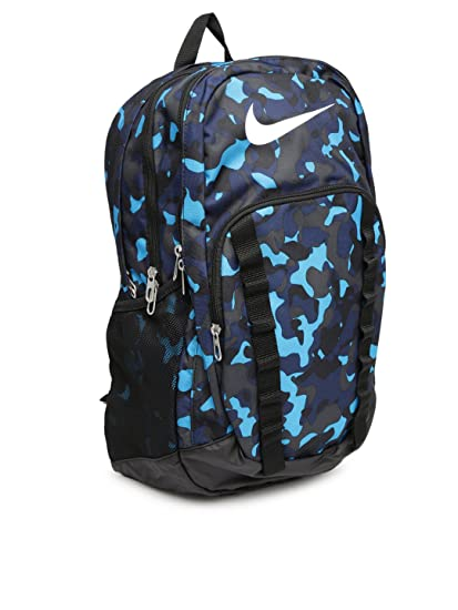 Nike Synthetic Brasilia 7 Graphic XL Backpack (Black Blue White)   Amazon.in  Bags 8010a56af150b