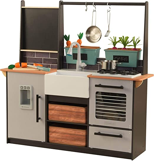 Amazon Com Kidkraft Farm To Table Play Kitchen Set Large Multicolor Toys Games