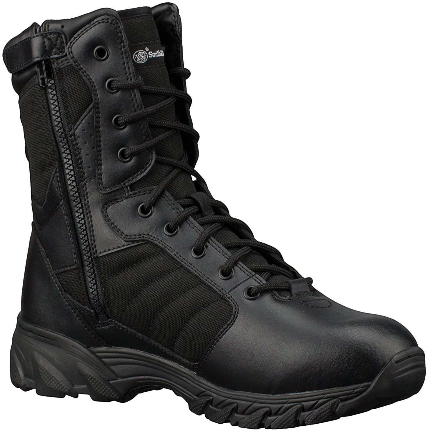 Smith & Wesson Footwear Men's Breach 2.0 Tactical Size Zip Boots, Black, 12