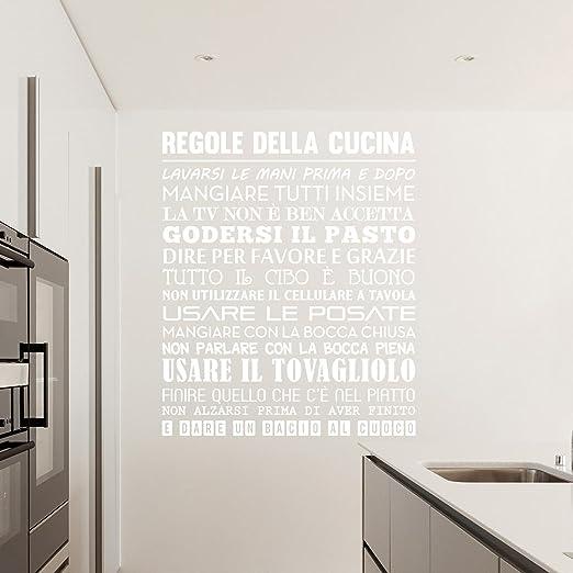 40 opinioni per Adesiviamo® Regole della Cucina Wall Sticker Adesivo da Muro