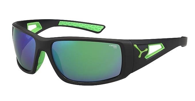 Gafas de sol deportivas negras con verde neón