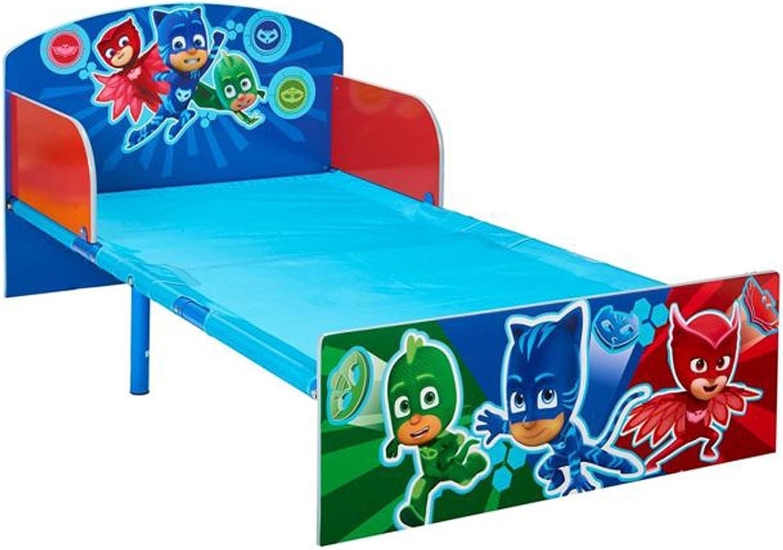 Cama infantil, colores azul diseño PJ Masks – Dim: L 143 x l ...