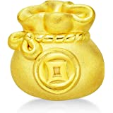 CHOW TAI FOOK 999 Pure 24K Gold Money Bag Charm/Pendant