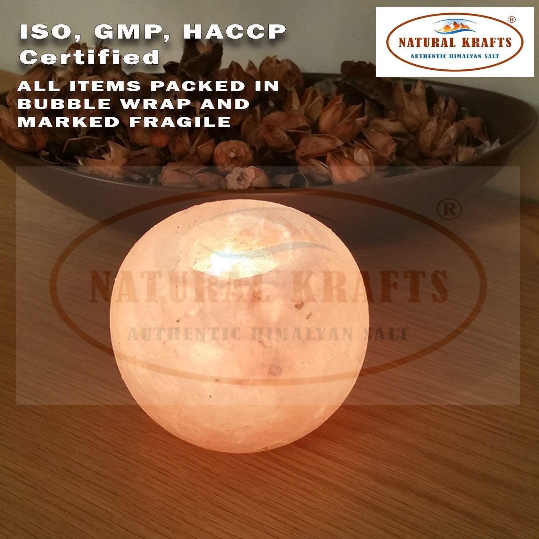 Globo y bola de cristal rosa natural de sal del Himalaya titular de vela hermoso regalo hecho a mano Calidad de sal del Himalaya de cristal inmejorable y calidad de forma del producto.
