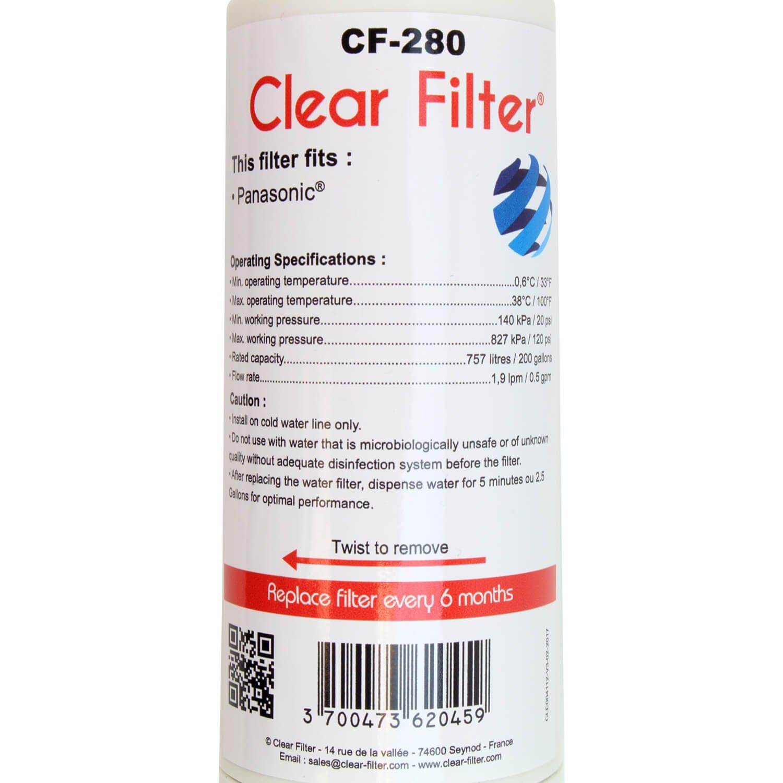 Filtra CNRAH 257760-compatible nevera Panasonic - Clear Filter CF ...