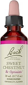 Bach Original Flower Remedy Dropper, 20 ml, Sweet Chestnut Flower Essence