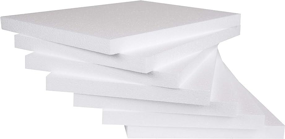 "24p 12/""x12/""x1//4/"" Styrofoam Polystyrene Flats Sheets Wedding Party Art Craft EPS"