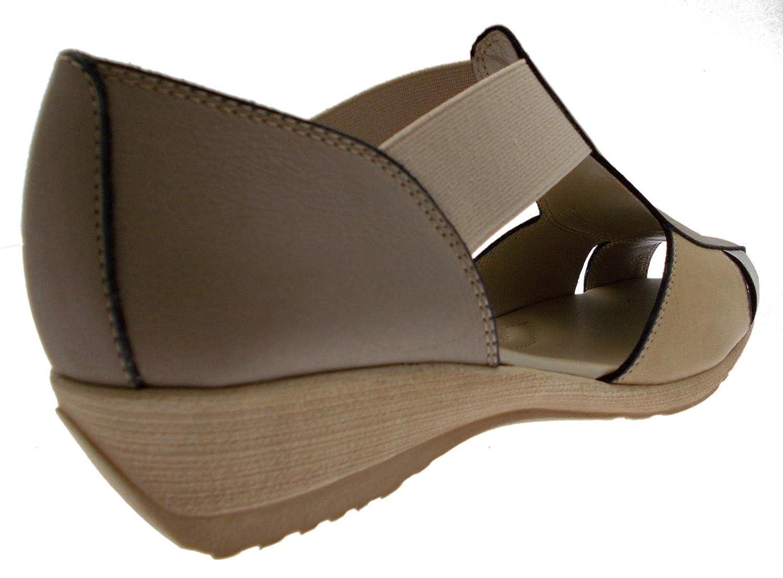 23a5708f71 Chaussure Sandale élastique Chameau Cou Art Multiples Beige 8967:  Amazon.fr: Chaussures et Sacs