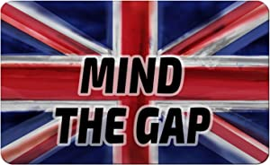 Makoroni - MIND THE GAP British England UK Des#1 Refrigerator Wall Magnet 2.75x3.5 inc