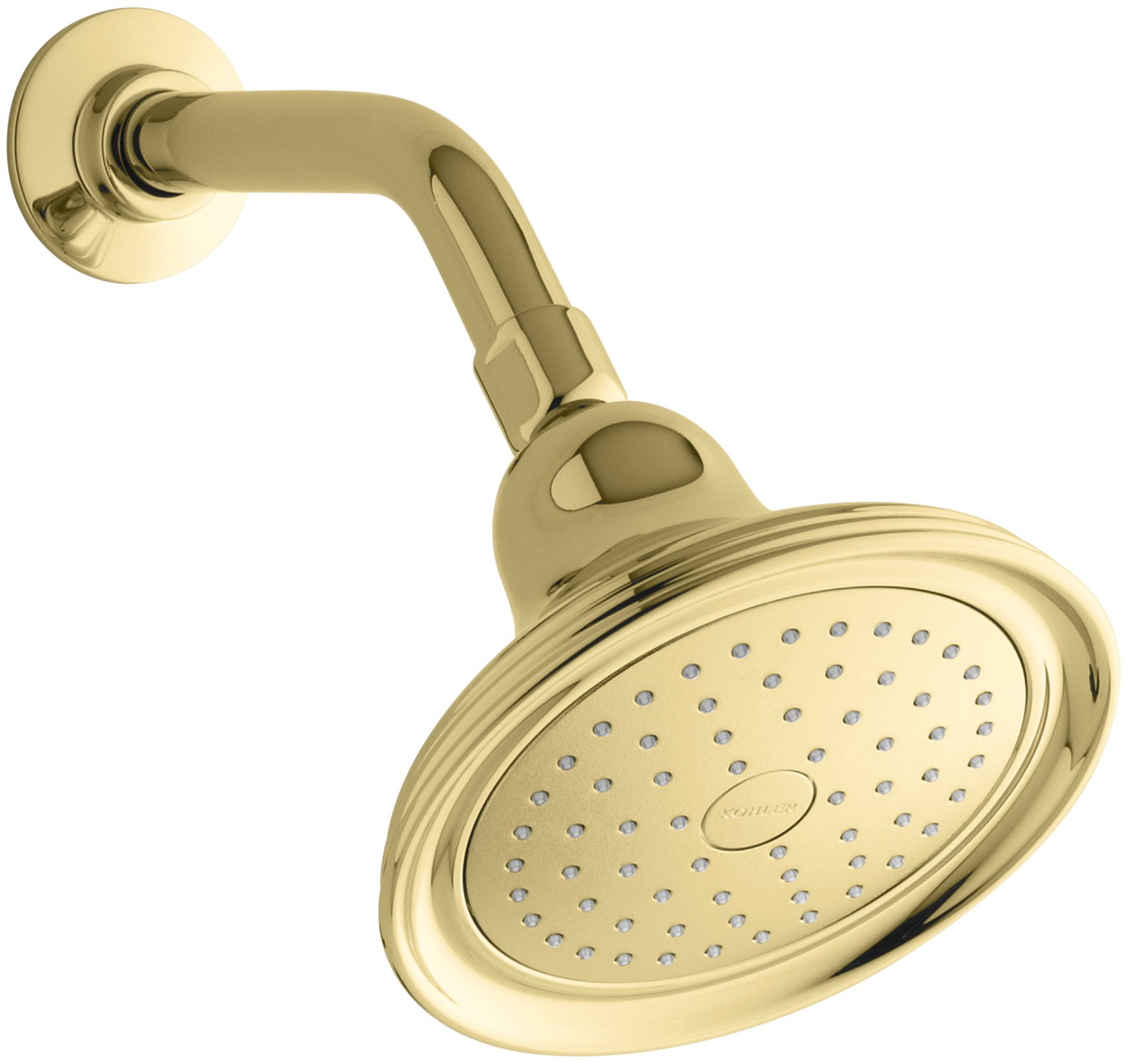 Kohler K-10391-AK-PB Devonshire Single-Faucet Katalyst Showerhead, Vibrant Polished Brass