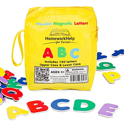 Classic Collection Of 100 Wooden, Magnetic Letters