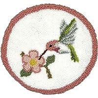 MCG Textiles Hummingbird Pillow Rug Yarn Punch Needle Kit