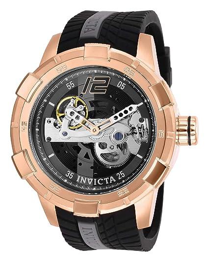 Invicta Reloj Análogo clásico para Hombre de Automático con Correa en Silicona 28595: Amazon.es: Relojes