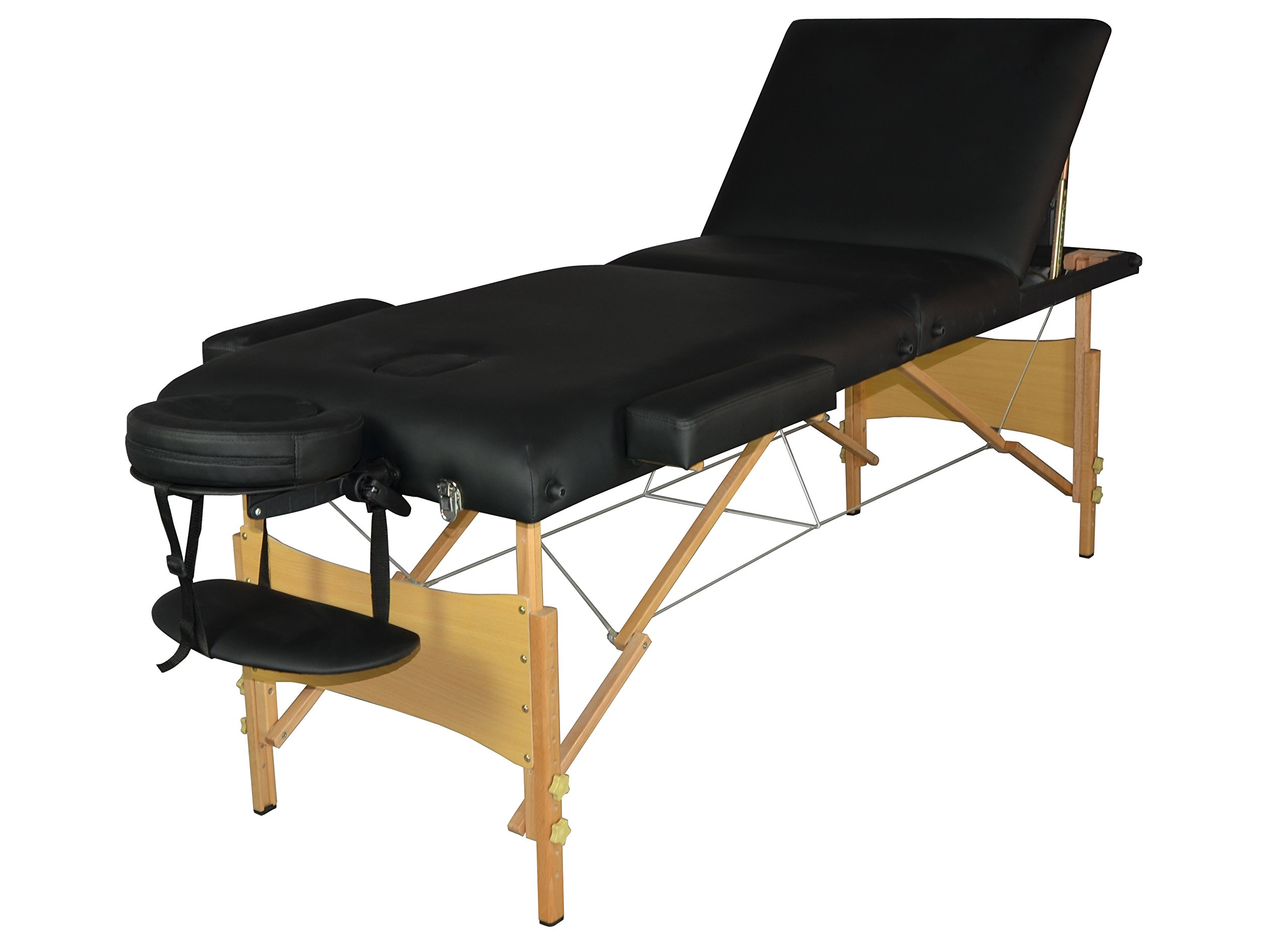 BestMassage 3 Section Portable Massage Table Facial SPA Bed Carry Case