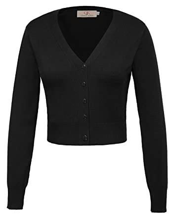 103f5121c2 schwarz strickcardigan damen strickweste langarm feinstrick blouson S CL20-1