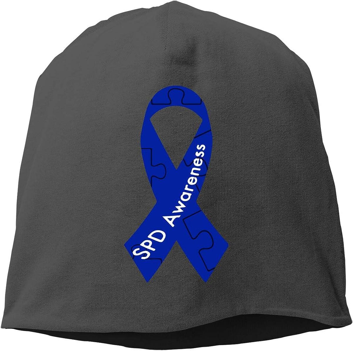 SHA45TM SPD Awareness Ribbon Men Women Winter Skull Cap Cycling Beanie Hat