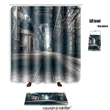 Vanfan Bath Sets With Polyester Rugs And Shower Curtain Abandoned Factory 509863421 Curtains Bathroom 69