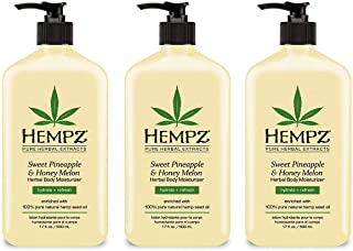 product image for Natural Herbal Body Moisturizer: Sweet Pineapple & Honey Melon Skin Lotion, 17 oz - 3 Pack