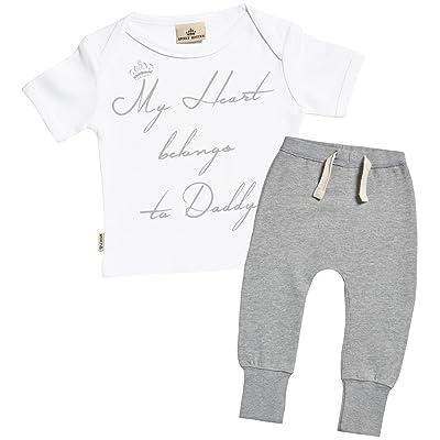 Heart Belongs To Daddy bébé Ensembles - bébé cadeaux Set - bébé T-Shirt & bébé Jogging - bébé Vêtements Ensembles