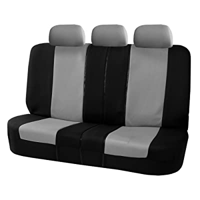 FH Group Gray-Bench FB051GRAY013 Universal Seat Cover (Allow Right and Left 40/60, 50/50 Split Fit Most of Vehicle): Automotive