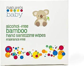 Toallitas de bambú desinfectantes para manos, sin alcohol, sin ...
