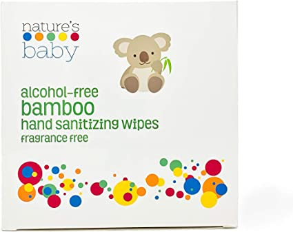 Amazon Com Nature S Baby Hand Sanitizing Bamboo Wipes Alcohol