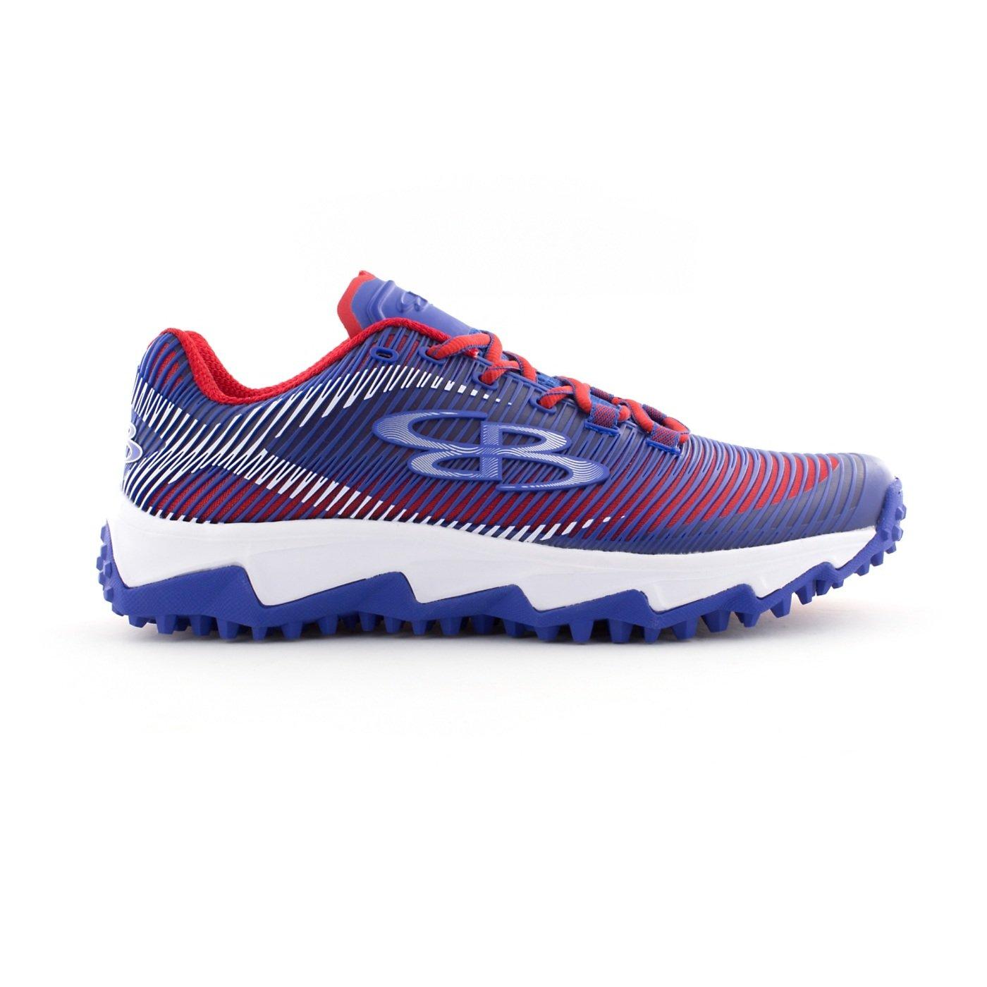 BoombahメンズAftershock DPS Turf Shoes – 18カラーオプション – 複数のサイズÉ B0767QFBQS 10|ロイヤル/レッド ロイヤル/レッド 10