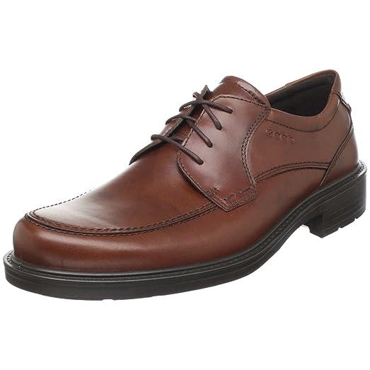 Ecco Shock Proof Mans Shoes Black Leather 11 D Medium 45 EU Lace up Oxfords