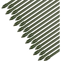 Sekey Soportesde Planta,Cañas jardín, Estantes de Planta,Estacas de Planta,Tubo de Acero Recubierto de plástico 8 mm de…