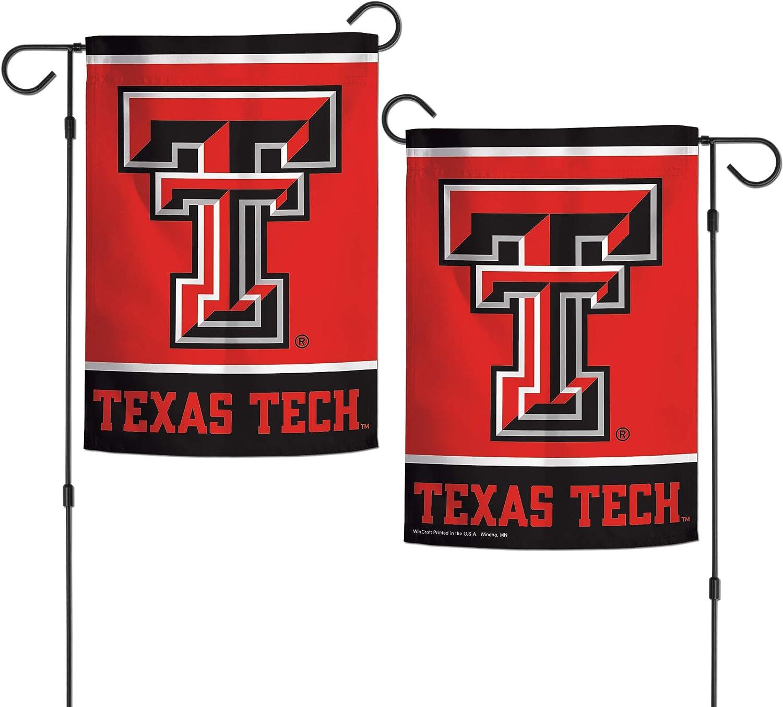 "WinCraft NCAA Texas Tech Red Raiders 12.5"" x 18"" Inch 2-Sided Garden Flag Logo"