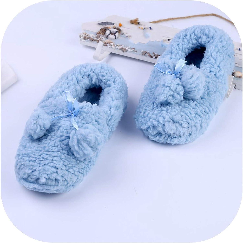 New Warm Women Wool Slippers Soft Sole