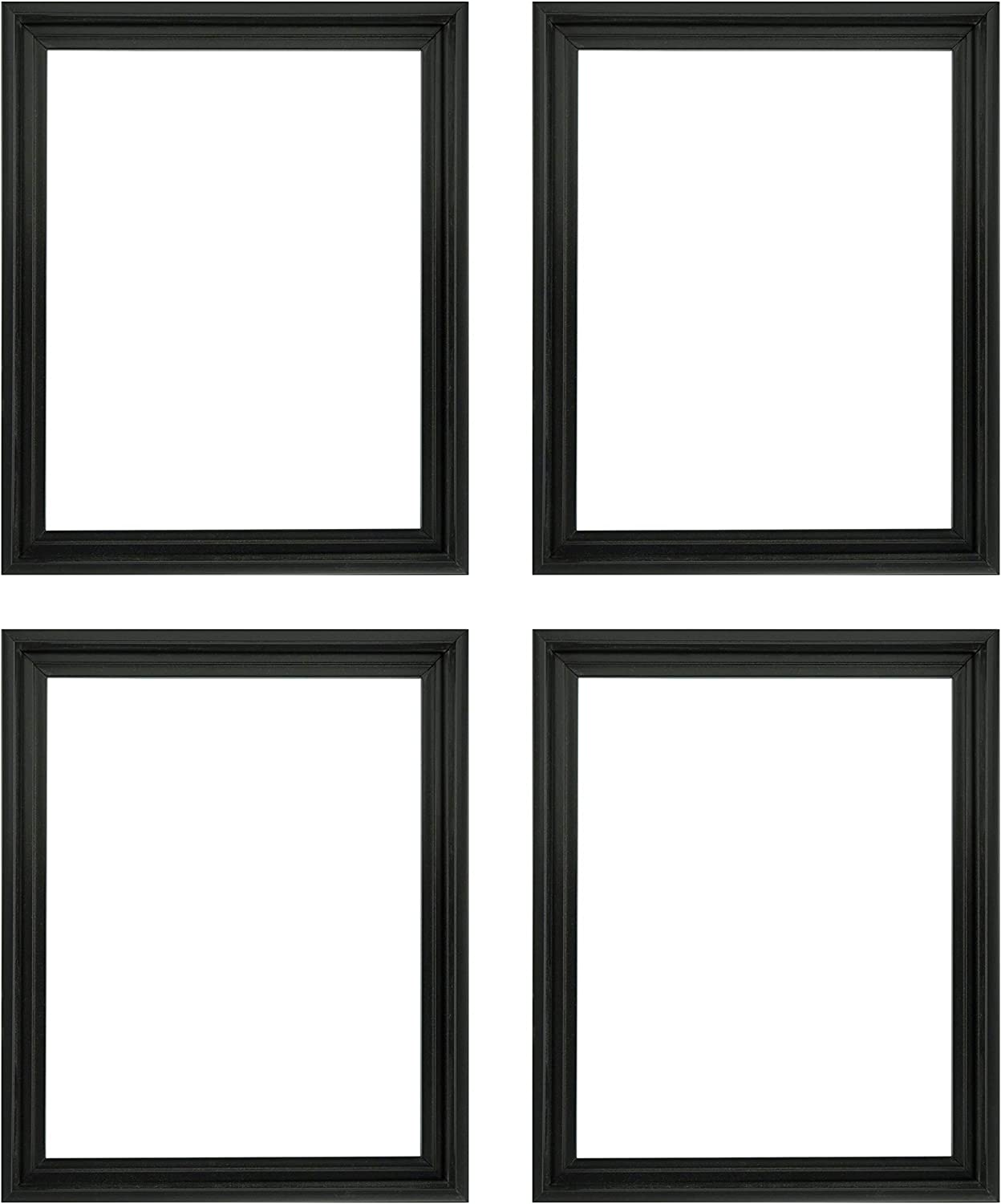 Amazon Com Creative Mark Illusions Floater Frame For 3 4 Inch Depth Stretched Canvas Paintings Artwork 4 Pack Black 9x12 Posters Prints