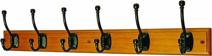 Headbourne Hr4069H 2 crochets doubles chrom/és sur pat/ère en bois Blanc
