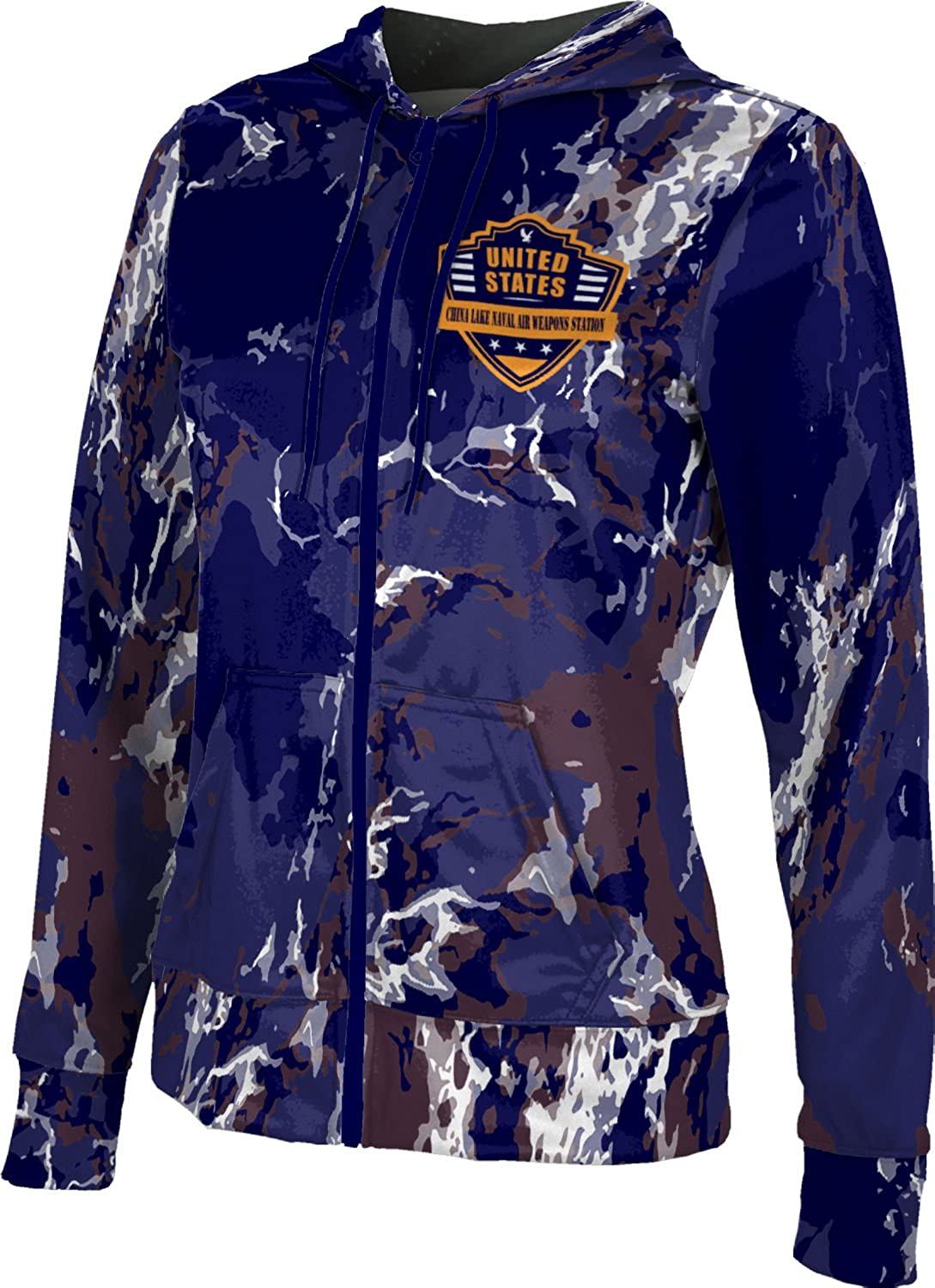 Women's China Lake Naval Air Weapons Station Military Marble Fullzip Hoodie