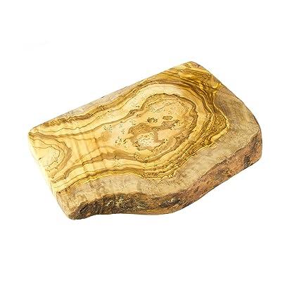 Rústico madera de olivo para cortar, tabla de cortar - 19 cm x 12 cm