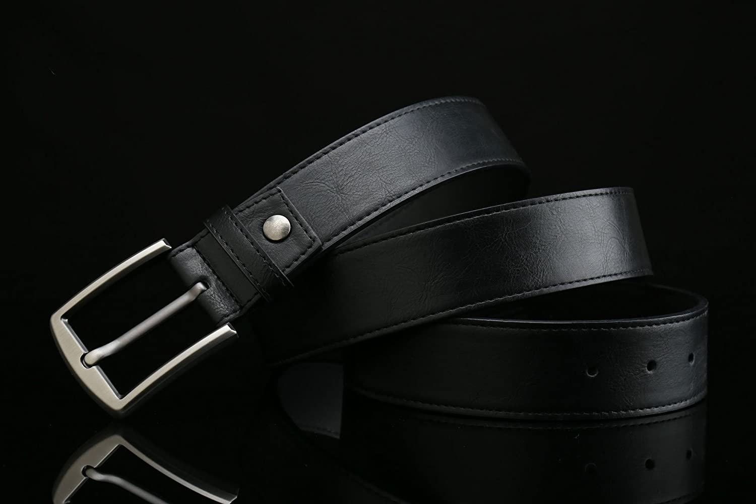 38mm Width Gurscour Mens Belts Business Leather Belt for Men 1.5