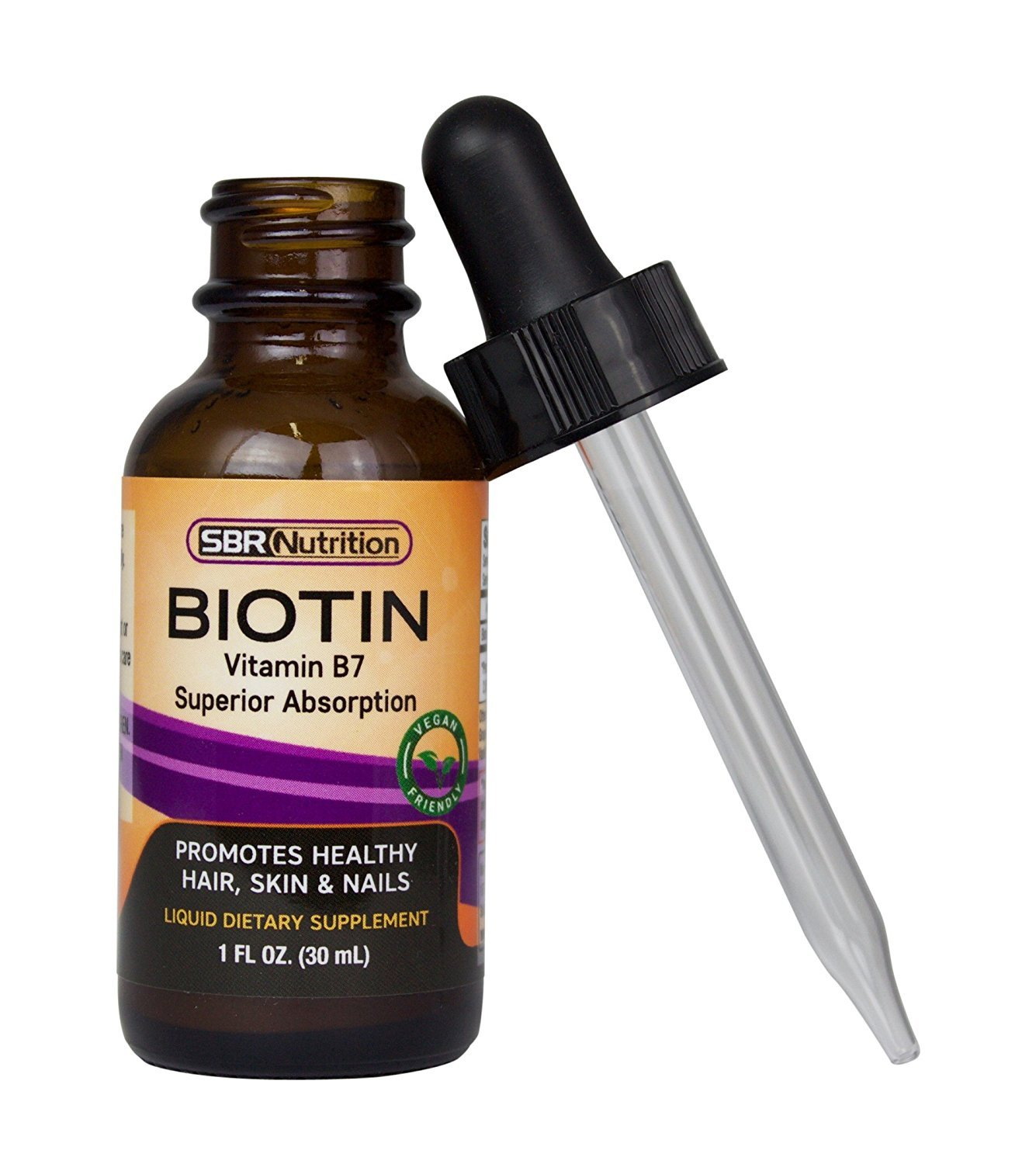 Max Absorption Biotin Liquid Drops, 5000mcg Of Biotin Per Serving, 60 Serving, No Artificial Preservatives, Vegan Friendly, Supports Healthy Hair Growth, Strong Nails And Glowing Skin, Made In Usa by Sbr Nutrition