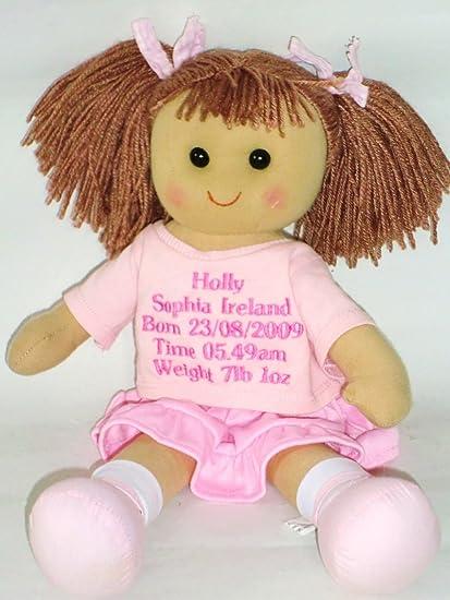 Muñeca de trapo bebé recién nacido niña Dolly - nuevo bebé de regalo ...