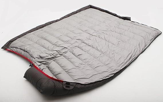 LMR Sacos de dormir rectangulares Al aire libre Ultraligero rectangular abajo saco de dormir para Camping con bolsa de compresión (Rojo): Amazon.es: ...